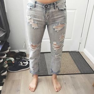 One Teaspoon Destructed Boyfriend Jeans